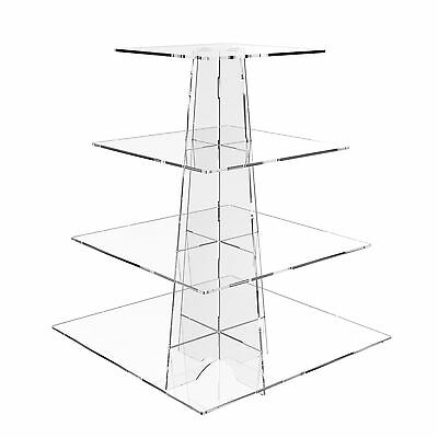 £19.88 • Buy Displaypro 4 Tier Acrylic Cupcake Display Stand Cup Cake Birthday Party - Square