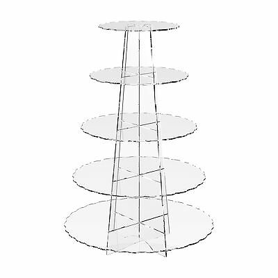 £18.24 • Buy Acrylic Cupcake Display Stand Cup Cake 5 Tier Clear Riser- Scallop By Displaypro