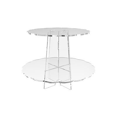 £11.38 • Buy Cup Cake Acrylic Stand 2 Tier Clear Cupcake Display Riser Scallop By Displaypro