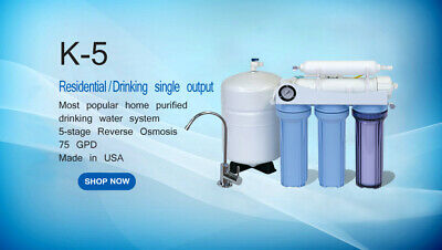 Residential Home Household Drinking Pure Water Ro Reverse Osmosis Filter System • 112.78£