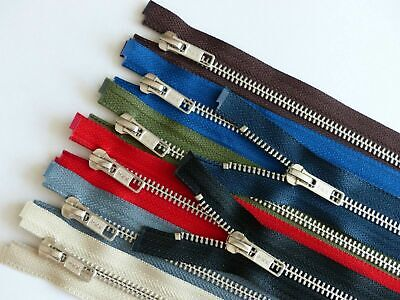YKK Metal Silver Teeth Open Ended Zip - Choice Of Colour And Length. • 3.15£