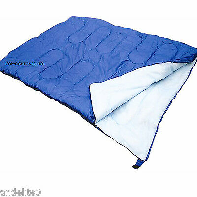 Warm Double Sleeping Bag For Camping Caravan And Travel With Storage Bag New  • 22.49£