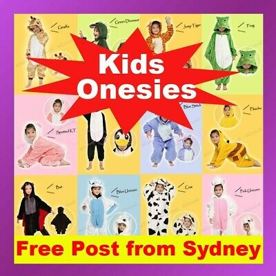 AU29.95 • Buy Kids Children's Unisex Kigurumi Animal Cosplay Costume Onesie Pajamas Sleepwear