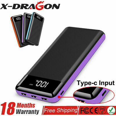 AU33.99 • Buy 500000mAh Portable Power Bank  3 USB Type C Input Fast Charge Battery Charger AU