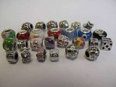 Charm Beads And Spacer/Stoppers For Bracelets, Arts & Crafts, Jewellery Making • 2.42£