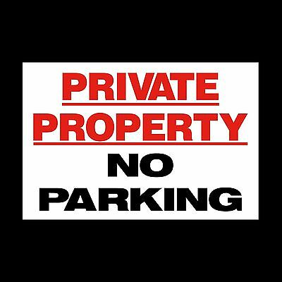 Private Property - No Parking Sign  *All Sizes* Plastic Sign Or Sticker (MISC40) • 1.99£