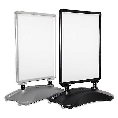 Pavement Sign, Black Or Silver, Waterbase A-board, Outdoor Poster Display Stand • 149.95£