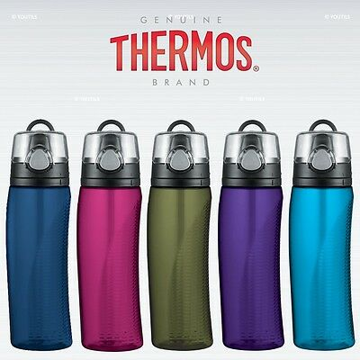 £11.35 • Buy Thermos Intak Hydration Water Bottle With Meter 710ml BPA Free
