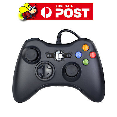 AU32.95 • Buy Black Xbox 360 Wired Controller For Windows & Xbox 360 Console PC USB Wired