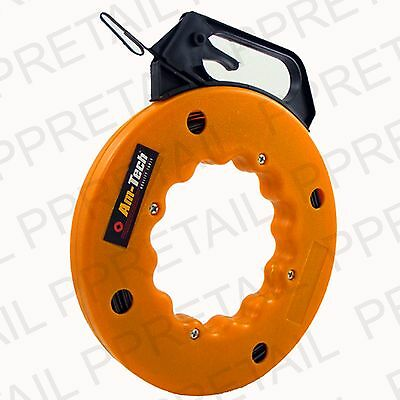 LARGE 50FT ELECTRICIAN FISH TAPE Cable/Wire Access Rod Threader Conduit/Drywall • 10.42£