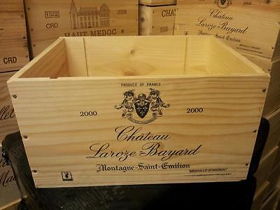 £26.95 • Buy 2 X FRENCH CRESTED 6 BOTTLE WOODEN WINE CRATE / BOX PLANTER KITCHEN STORAGE BOX