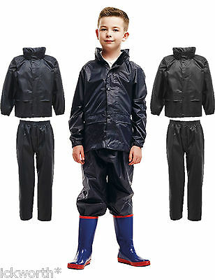 Kids Regatta Waterproof Jacket & Trousers Suit Rainsuit Boys Girls Childrens • 12.49£