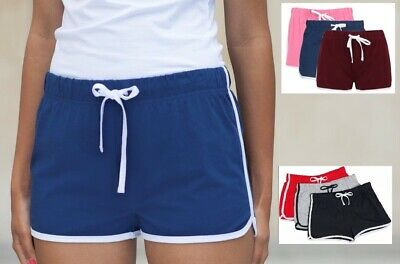£9.99 • Buy Womans Ladies Girls Womens Retro Training Fitness Exercise Cotton Sports Shorts