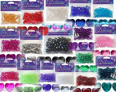 85 Heart Diamante Crystals  Decorations  Engagement Party Table Confetti Wedding • 1.80£