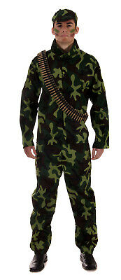 Fancy Dress Mens Army/solider Man One Size • 13.75£