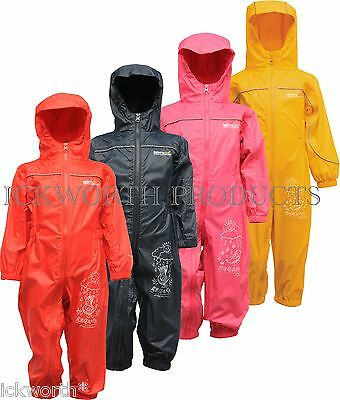 Regatta Puddle Iii Iv All In One Waterproof Suit Childrens Kids Childs Boys Girl • 14.95£
