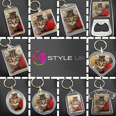 £3.95 • Buy Blank Clear Acrylic Keyrings - Make Your Own Photo Keyrings - Insert Any Photo