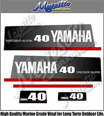AU68 • Buy YAMAHA - 40hp PRECISION BLEND - DECALS - OUTBOARD DECALS