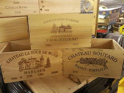 £13.95 • Buy French Wooden Wine Crate - Box - Office Archive Storage Drawers / Letter Box