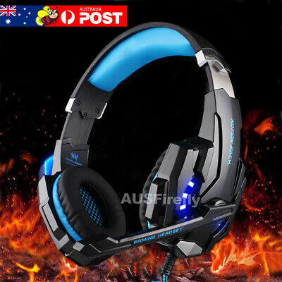 AU32.95 • Buy 3.5mm Gaming Headset MIC LED Headphones Surround For PC Mac Laptop PS4 Xbox One
