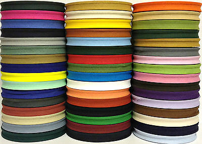 Cotton Bias Binding Tape Folded 25 X 16mm (5/8 ), Choose Colour & Length • 4.99£