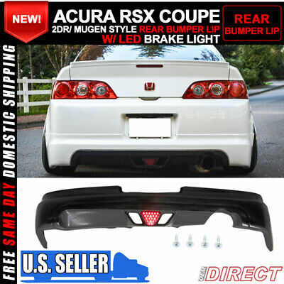 $264.99 • Buy For 05-06 Acura RSX Coupe 2Dr Mugen Style Rear Lip With Led Brake Light