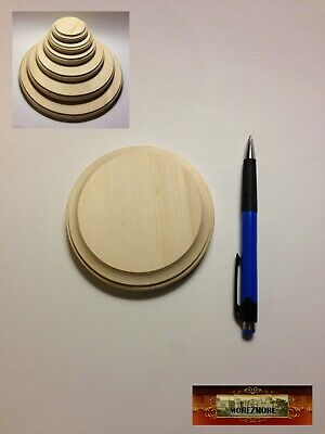 $3.09 • Buy M00067 MOREZMORE 1 Unfinished 4  Round Wood Base Wooden Plaque Sculpt Stand