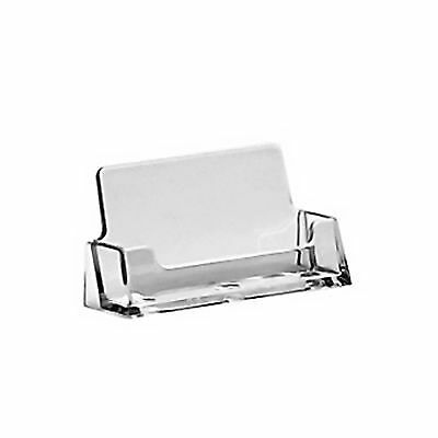 £4.65 • Buy 2 X Acrylic Business Card Holders Shop Counter Retail Display Stands Dispenser