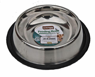 Non Slip 21cm Stainless Steel Cat Puppy Dog Pet Bowl Dish Water Food Feeding • 3.95£