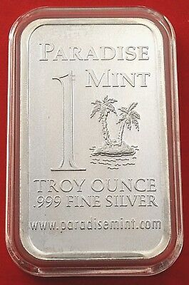 1oz  Fine Silver Bar Paradise Mint Florida Taste Heaven Rare Limited Ingot • 43.52£