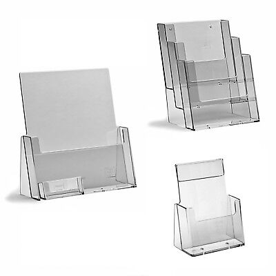 Leaflet Holders Brochure Display Stand, Wall Business Card Dispenser A6 DL A5 A4 • 4.90£