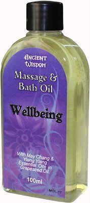 Aromatherapy Wellbeing Massage & Bath Oil 100ml With Ylang Ylang & May Chang • 7.95£
