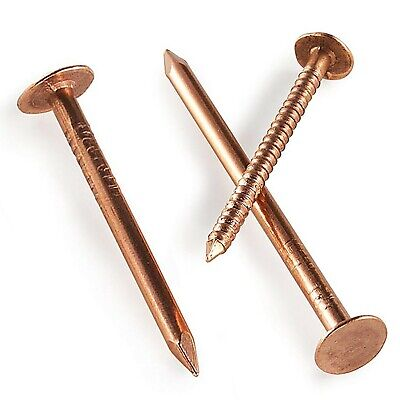 25 Copper Clout Roofing Nails - 5 Sizes - Also Used For Tree Stump Removal - Diy • 2.99£