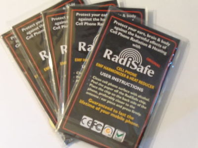 3 X Radisafe Anti Radiation EMF Protection Energy Saver Phone Laptop Stickers • 5.99£