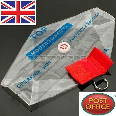 £4.49 • Buy Rescue CPR Resuscitator Mask Keychain Key Ring Emergency Face Shield First Aid