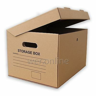 £17.90 • Buy Strong A4 Filing Archive Storage Removal Cardboard Boxes With Handles