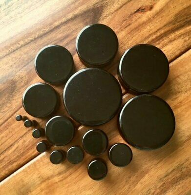 $9.95 • Buy PAIR Black Onyx Organic Stone Plugs Gauges - Up To 38mm Available!