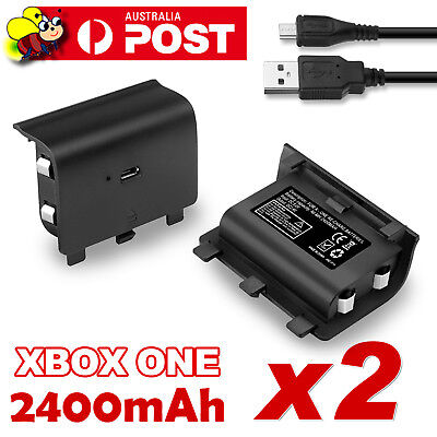 AU20.45 • Buy For Xbox One Style Battery Pack Controller Rechargeable 2400mAh Rechargeable X2