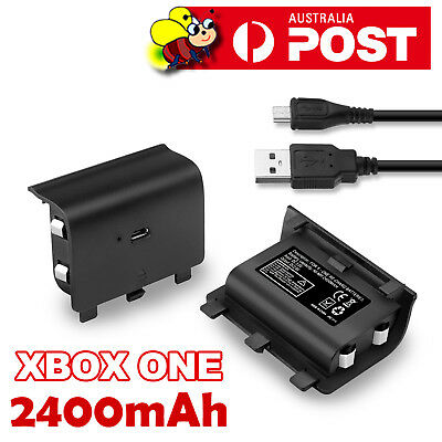 AU13.95 • Buy 2400mAh Rechargeable Battery Pack + USB Charger Cable For XBOX ONE Controller