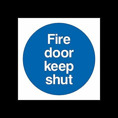 Fire Door Keep Shut Sign, Sticker - All Sizes & Materials - Escape, Closed, Exit • 0.99£