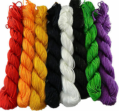 £4.24 • Buy Chinese Knotting Beading Cord Mixed Approx 1mm 8 (25 Yard Skeins)
