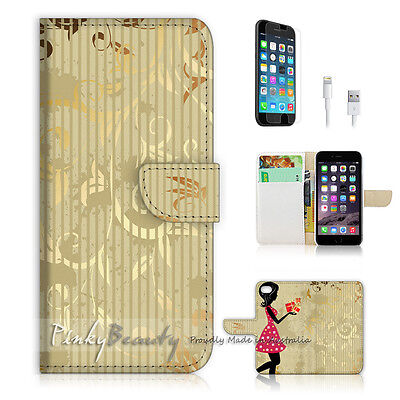 AU12.99 • Buy ( For IPhone 6 Plus / IPhone 6S Plus ) Case Cover Flower Girl And Damask P1413