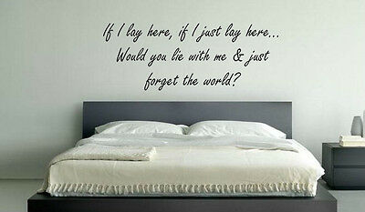 If I Lay Here Snow Patrol Chasing Cars Music Lyrics  Decal Wall Sticker Picture • 12.67£