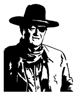 4inch BY 6inch Donald Trump-John Wayne 4stickers $5 Vinyl sticker decal-color