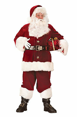 £166.78 • Buy Santa Claus Suit Super Deluxe Funworld Costume Outfit Christmas Satin Lined