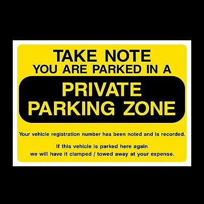 Private Parking Zone - Plastic Sign, Sticker - All Sizes & Materials - P42 • 0.99£