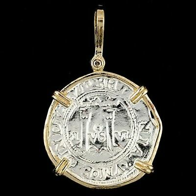 Atocha Sunken Tresure Jewelry - Pillars & Waves Medium Silver Coin Pendant • 84.95$