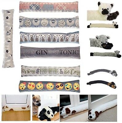 Tapestry Door Window Draught Excluder Fabric Cushion Various Designs Large New • 6.95£