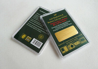 2 X Gold Anti Radiation Salvage Shield Battery Energy Saver Phone Stickers • 4.99£