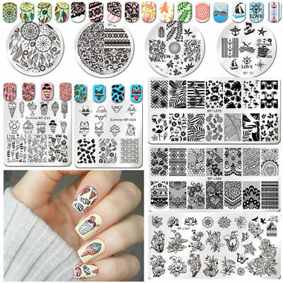 $0.99 • Buy Born Pretty Nail Art Stamp Image Plates Stamping Templates Christmas Decoration